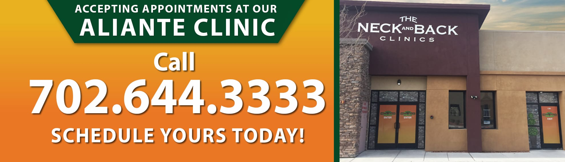 Appointments at aliante clinic